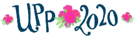 logo with flowers on side